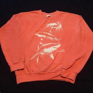 ORANGE OBEY CREWNECK SWEATER SIZE MEDIUM!